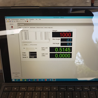 Rice lake forklift scale calibrated using revolution software