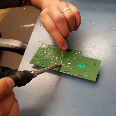 PCB been repaired by scalemen of florida technician